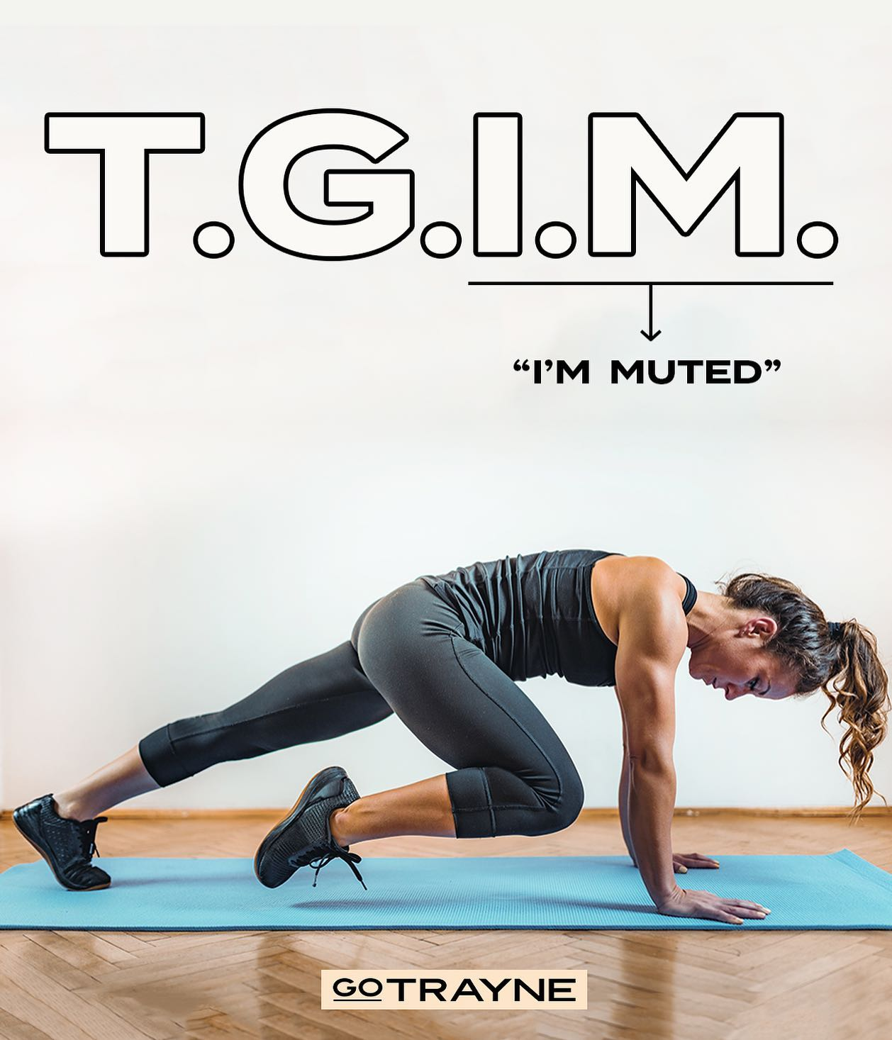 TG I'm muted! ⚡️  Letting them see you sweat 👏 vs. Letting them hear you grunt 😅.   Safe to say we've all had moments in our #ZoomWorkout that make us grateful for mute!