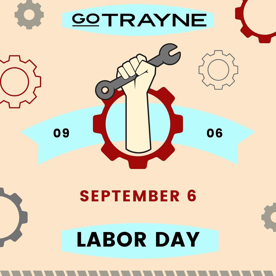 """""""All labor that uplifts humanity has dignity."""" - Martin Luther King Jr. We at GoTrayne wish a happy and restful…"""